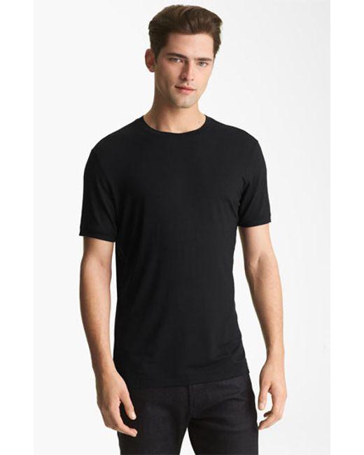 Emporio Armani | Black Jersey Trim Fit T-shirt for Men | Lyst