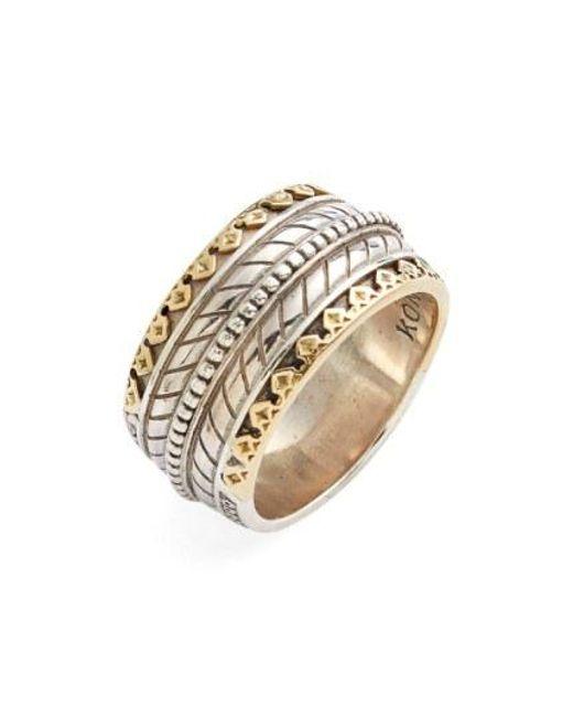 Konstantino - Metallic 'orpheus' Carved Band Ring for Men - Lyst