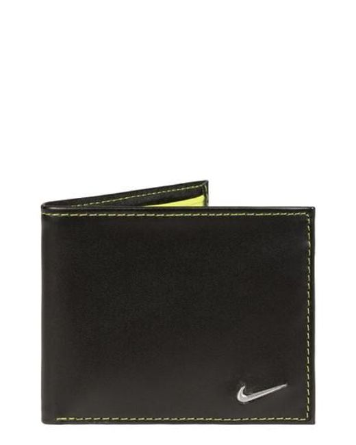Nike   Black Modern Leather Wallet for Men   Lyst