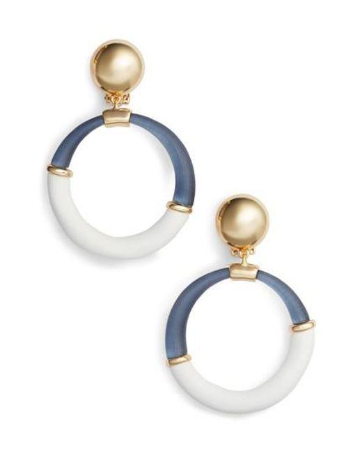 Alexis Bittar | Blue Split Hoop Drop Earrings | Lyst