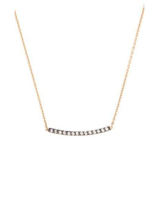 Kismet by Milka - Metallic Diamond Bar Necklace - Lyst