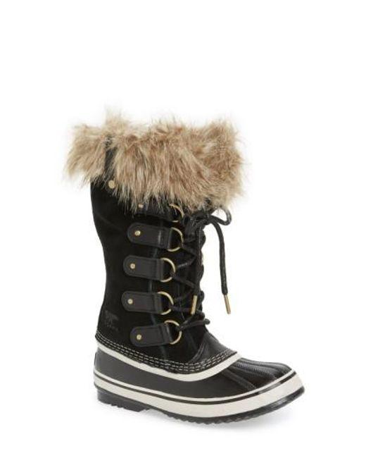 Sorel | Black 'joan Of Arctic' Waterproof Snow Boot | Lyst