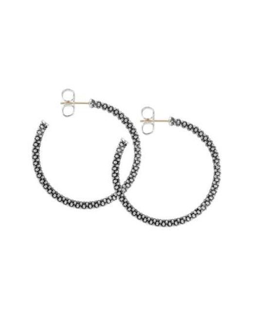 Lagos - Metallic Medium Caviar Hoop Earrings - Lyst