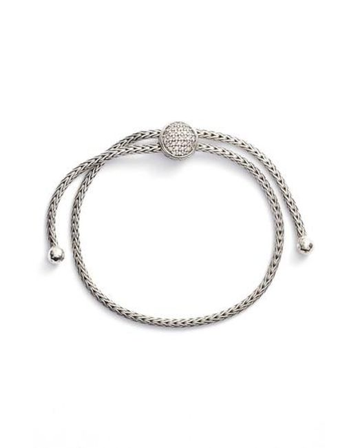 John Hardy | Metallic Classic Chain Diamond Pull Through Bracelet | Lyst