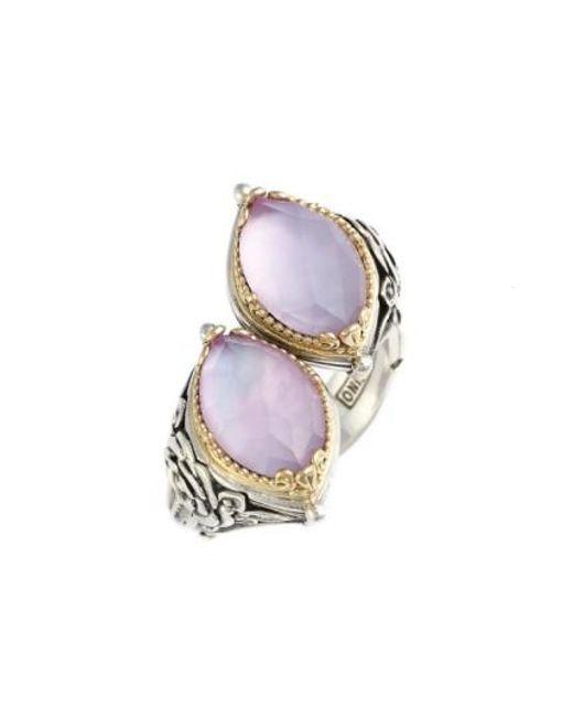 Konstantino | Pink 'iliada' Doublet Ring | Lyst