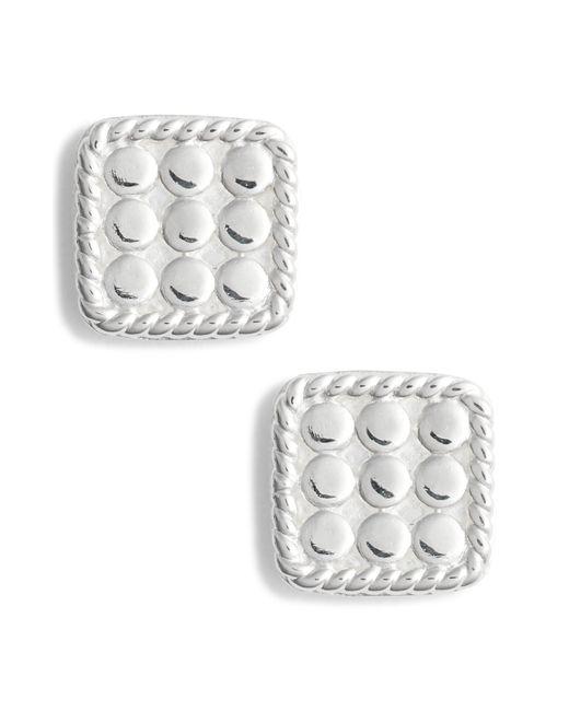 Anna Beck - Metallic Mini Cushion Stud Earrings - Lyst