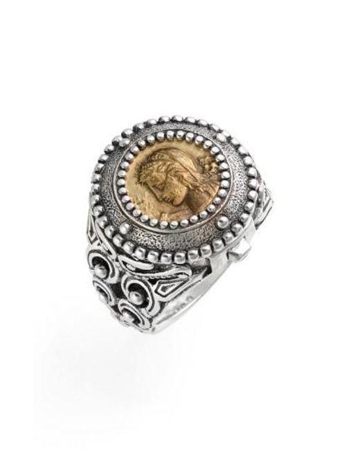 Konstantino   Metallic 'arethusa' Hinged Coin Ring   Lyst