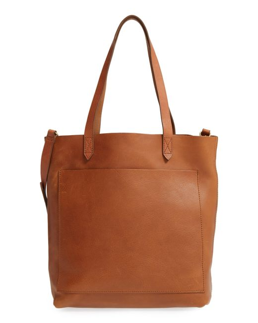 Madewell Brown Medium Leather Transport Tote