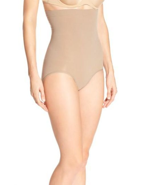 Spanx | Brown Spanx Higher Power Shaper Panty | Lyst