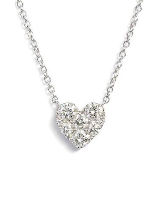 Bony Levy - Metallic Heart Diamond Pendant Necklace (nordstrom Exclusive) - Lyst