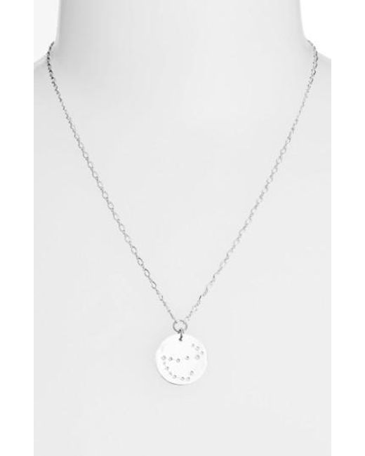 Nashelle   Metallic Ija 'large Zodiac' Sterling Silver Necklace   Lyst