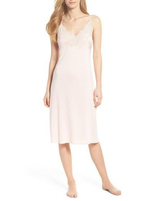 Natori - Pink Luxe Shangri-la Nightgown - Lyst