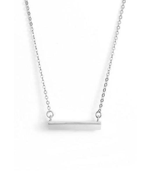 Stella Valle | Metallic Diamond Shaped Bar Pendant Necklace | Lyst