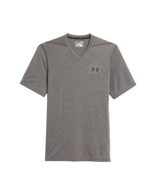 Under Armour | Gray Regular Fit Threadborne T-shirt for Men | Lyst
