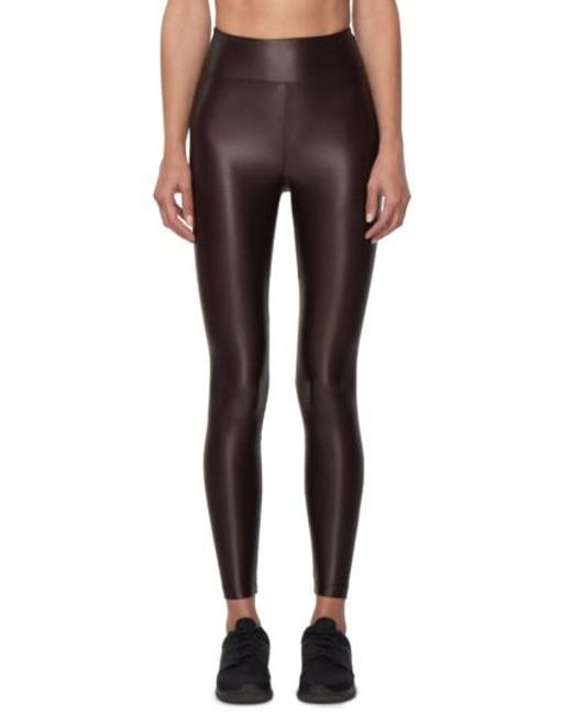 Koral | Brown Lustrous High Waist Leggings | Lyst