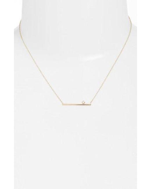 Zoe Chicco   Metallic Floating Diamond Pendant Necklace   Lyst