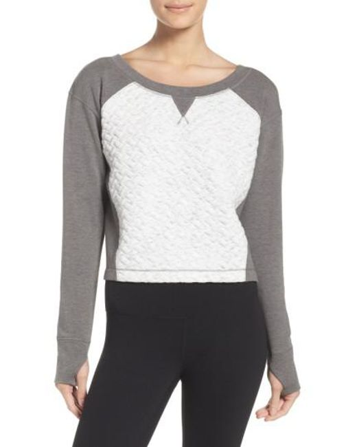 Zella | White Dance Off Crop Pullover | Lyst