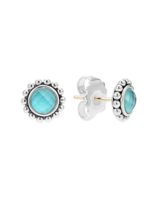 Lagos   Blue Maya Doublet Stud Earrings   Lyst