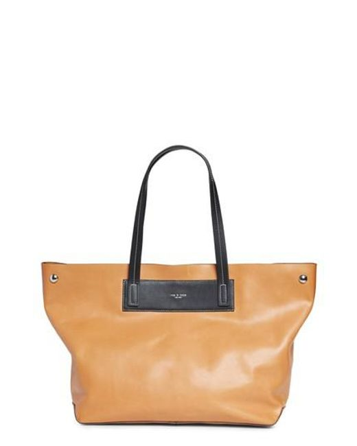 Rag & Bone | Blue Compass Everyday Leather Tote | Lyst