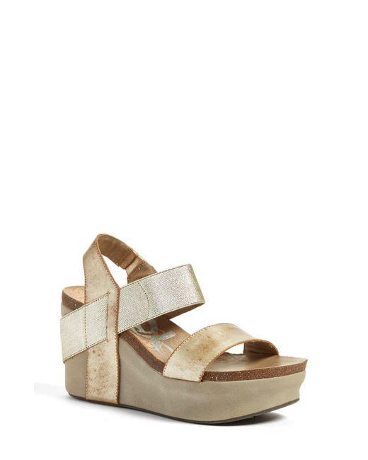 Otbt Metallic 'bushnell' Wedge Sandal