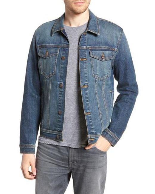 7 For All Mankind - Blue 7 For All Mankind Trucker Jacket for Men - Lyst