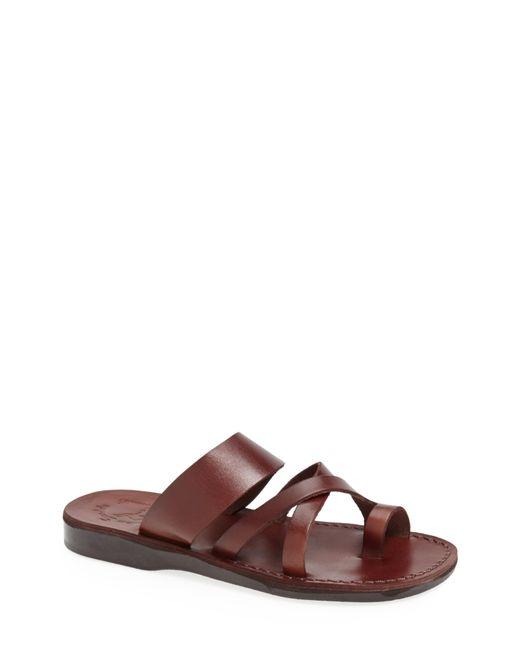 Jerusalem Sandals Black 'the Good Shepherd' Leather Sandal for men