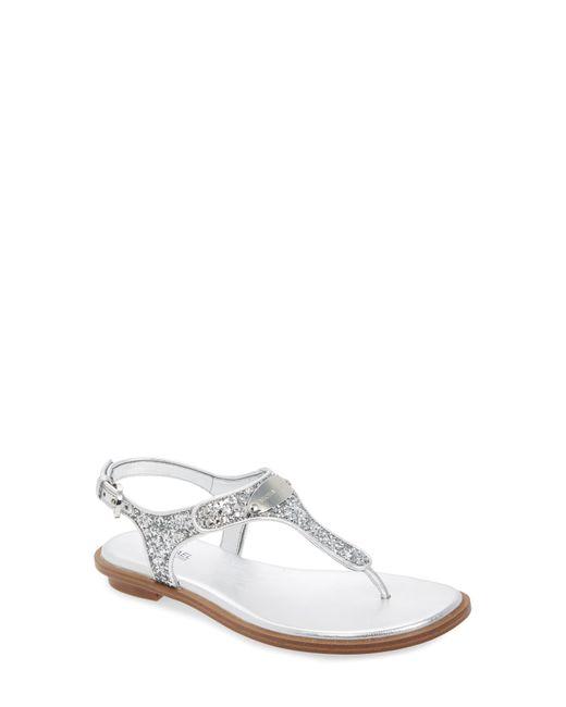 MICHAEL Michael Kors Metallic 'plate' Thong Sandal