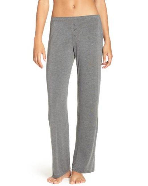 Pj Salvage | Gray Jersey Pajama Pants | Lyst