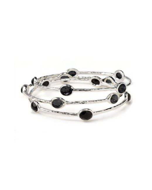 Ippolita - Metallic 'rock Candy' 5-stone Sterling Silver Bangle (online Only) - Lyst
