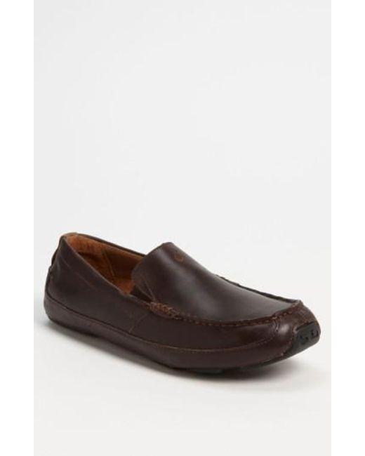 Olukai - Brown 'akepa' Driving Shoe for Men - Lyst