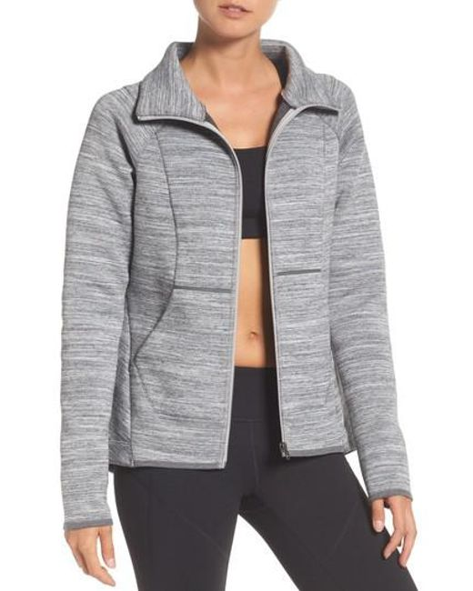 Zella | Gray Interval Training Jacket | Lyst