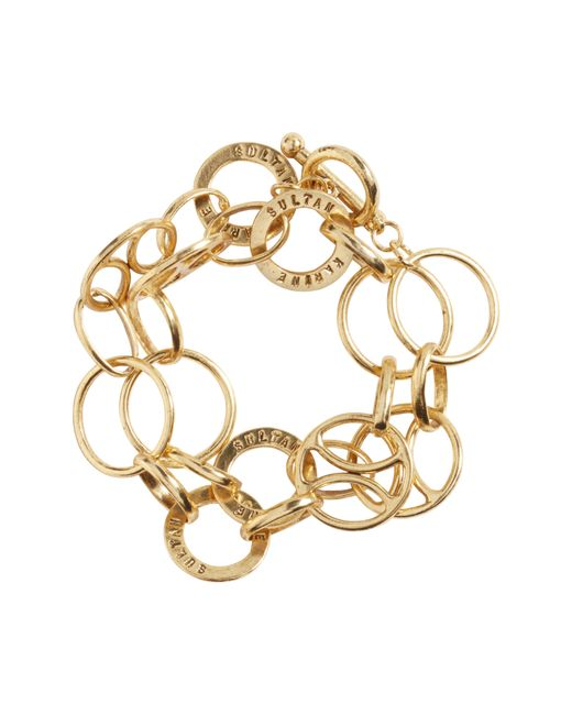Karine Sultan - Metallic Link Wrap Bracelet - Lyst