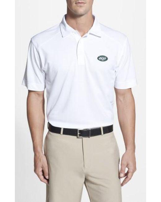 Cutter & Buck | White 'New York Jets - Genre' Drytec Moisture Wicking Polo for Men | Lyst