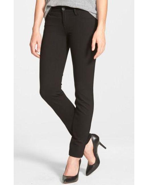 Kut From The Kloth - Black 'mia' Stretch Knit Five-pocket Skinny Pants - Lyst