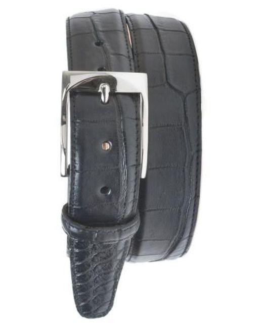Martin Dingman - Black 'wellington' Matte Finish Genuine Alligator Leather Belt for Men - Lyst