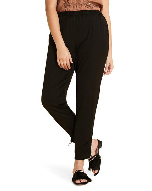 Marina Rinaldi Black Plus Size Ribalta High-rise Pull-on Ankle Pants