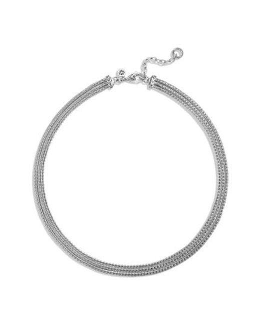 John Hardy - Metallic 'classic Chain' Three Row Collar Necklace - Lyst