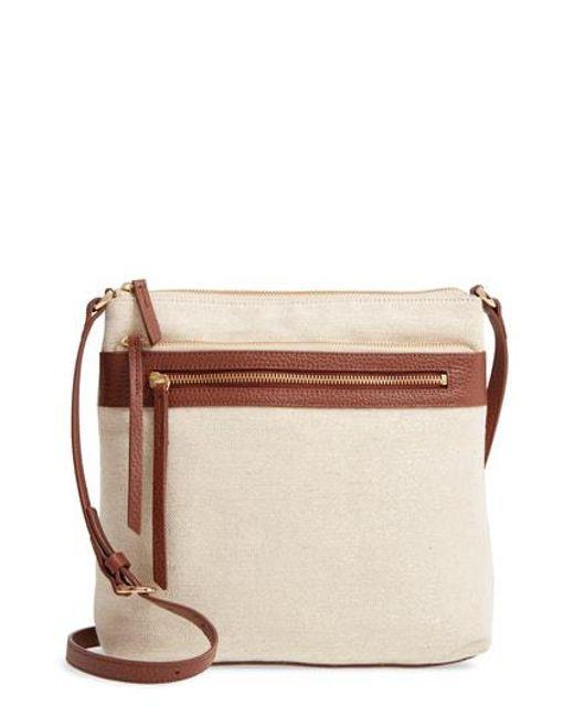 Nordstrom Multicolor Kaison Linen Leather Crossbody Bag Lyst
