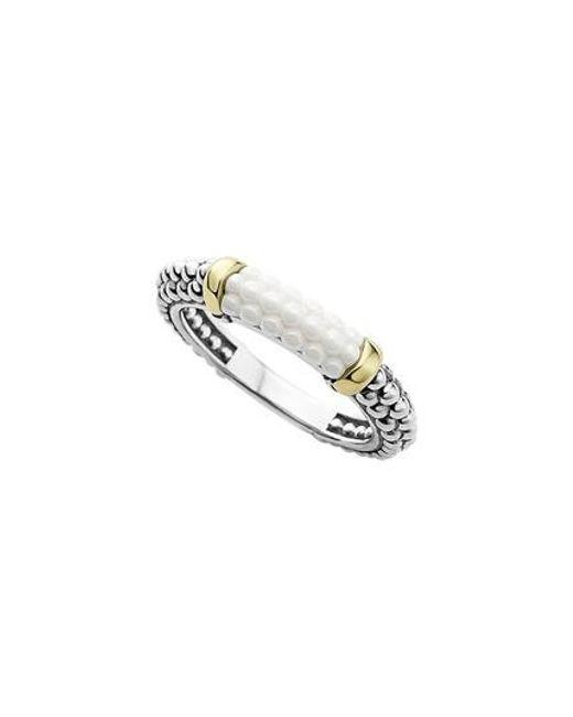Lagos - Metallic 'caviar' Stacking Ring - Lyst