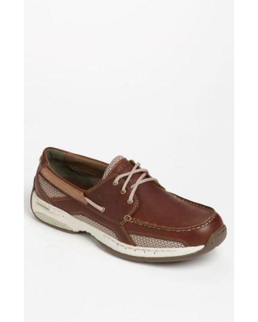 Dunham - Brown 'captain' Boat Shoe for Men - Lyst