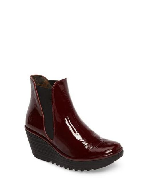 Fly London - Red Yoss Wedge Bootie - Lyst