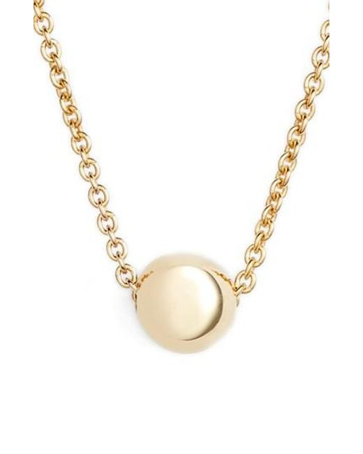 Bony Levy - Metallic Ball Pendant Necklace (nordstrom Exclusive) - Lyst