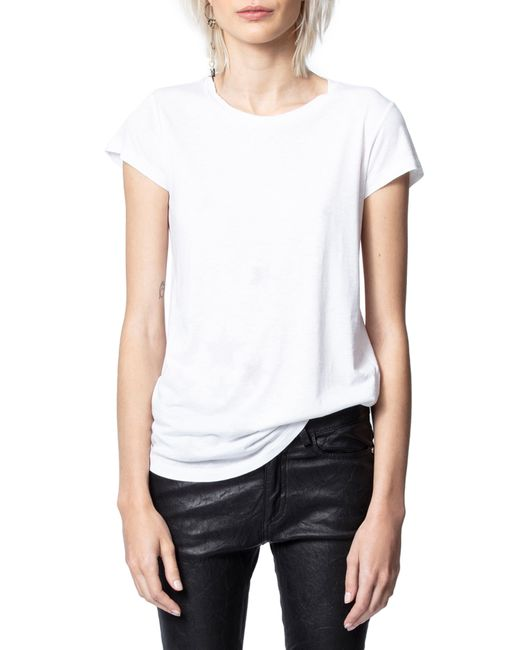Zadig & Voltaire White Crystal Stars Top