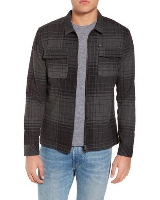 RVCA | Black Lamar Shirt Jacket for Men | Lyst