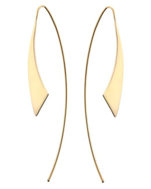 Lana Jewelry - Metallic Gloss Threader Hoop Earrings - Lyst