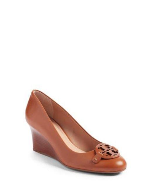 Tory Burch - Brown Miller Wedge Sandal - Lyst