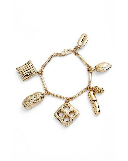 Tory Burch - Metallic Snack Charm Bracelet - Lyst