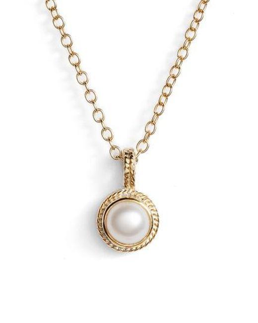 Anna Beck | Metallic Semiprecious Stone Round Drop Pendant Necklace | Lyst