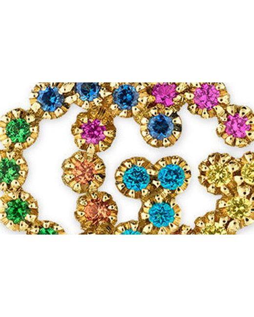 05a3ece4ab6 ... Gucci - Metallic Double-g Multistone Stud Earrings - Lyst