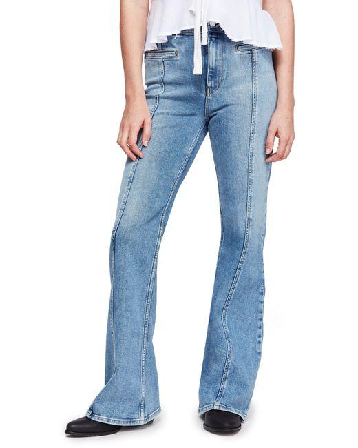 Free People - Blue Firecracker Flare Jeans - Lyst
